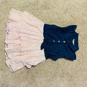 Calvin Klein Jean Ruffle Dress